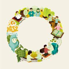Editorial Illustration on Behance Eid Mubarak Wallpaper, Cake Illustration, Illustrations, Ramadan Poster, Ramadan Activities, Ramadan Decorations, Lol Dolls, Instagram Highlight Icons, Islamic Art