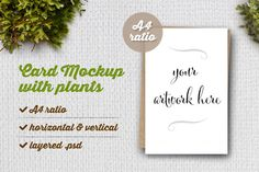 Check out Card Mockup with Plants by Friskweb on Creative Market