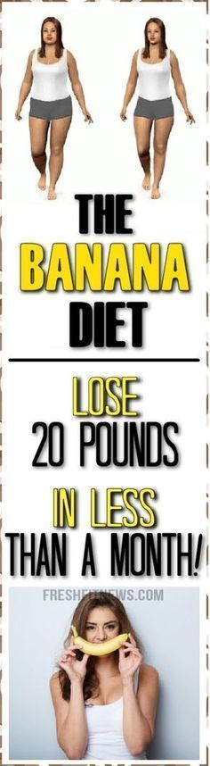 The Banana Diet: Lose 20 Pounds In Less Than A Month! #canilose20poundsin2months #couldilose20poundsin2months