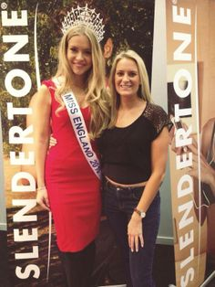 Here's the gorgeous Kirsty Rose (Miss England) with our fabulous Charlotte at the Be:Fit show London. #MissEngland #BeFitShow #London #Slendertone