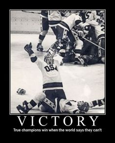 USA men's hockey team 1980   Probably the best moment in ice hockey history.   reason one why it will always be my favorite
