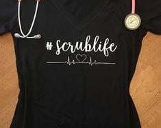 Scrublife - Scrub Life Shirt - Tank or Tee - Nurse Shirt - Medical Student Shirt - PA Shirt - Medical Assistant Shirt