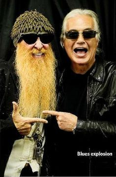 Billy Gibbons of ZZ Top and Jimmy Page of Led zeppelin Greatest Rock Bands, Best Rock, Power Metal, Led Zeppelin, Rock Roll, Music Love, Rock Music, Billy Gibbons, Zz Top
