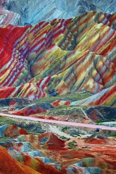 Must visit: Layers of different colored sandstone and minerals were pressed together over 24 million years and then buckled up by tectonic plates.