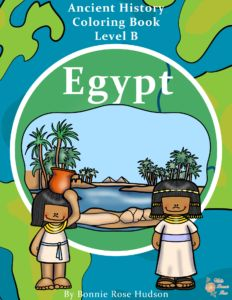 Ancient History Coloring Book: Egypt. Journey to the land of ancient Egypt with these 19 fun coloring pages with large print, traceable copywork. See the Great Sphinx, learn about the Sahara Desert and the Nile River, discover camels and canoes, and meet Nefertiti, Cleopatra, and more. Also available are Inca, Maya, Aztec, Greece, and Rome. - WriteBonnieRose.com