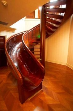 stairs/slide...this would be amazing leading to the lower level to a playroom!! Hope that is free b/c I want it!!