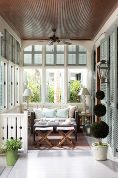 Make a statement in your neighborhood with an inspired exterior and front porch! Paint shutters in Buxton Blue HC-149 with Regal Select, Semi Gloss. Try Pepple Beach 1597 in our Floor & Patio Latex Enamel, Low Sheen. And then top it off with trim painted in Frostine AF-5, Aura, Satin.
