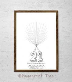 21st Birthday Fingerprint Balloon Kit