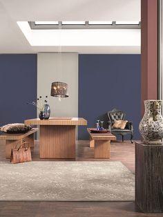 Schon Blaue Und Violette Wandfarben Im Esszimmer Zügeln Den Appetit. Ein Dunkler  Blauton Wirkt Beruhigend Und