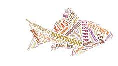 Maak een woordwolk, opdracht MOOC Poëzie, nav film Dicherlijk gesprek