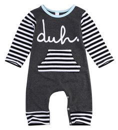3074a9aca97 long sleeve romper 2016 wholesale baby kids boy girls warm infant romper  cotton striped clothes outfits-in Rompers from Mother   Kids on  Aliexpress.com ...