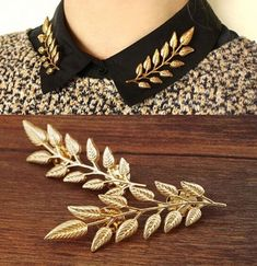1.39AUD - Womens Charms Jewelry Exquisite Fashion Gold/Silver Leaf Collar Pin Party Brooch #ebay #Fashion