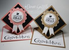Graduation Spring/giftcard cards with tutorial from Dawnstampingthoughts