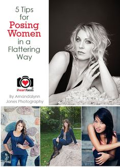 5 Tips for Creating Flattering Poses for Women by Amandalynn Jones Photography for iHeartFaces.com