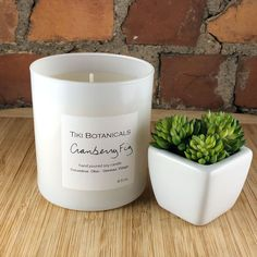 Cranberry fig hand poured candle by Tiki Botanicals. Perfect for your boho living room, bedroom or bath. Home Made Soap, Hand Poured, White Bathroom Decor, Candle Jars, Candles, Boho Living Room, Hand Poured Candle, Boho Living Room Decor, Hand Poured Soy Candles