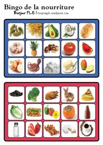 bingonourriture10 Core French, French Class, Bingo, Food In French, French Resources, Teaching French, Infant Activities, Green Beans, Im Not Perfect