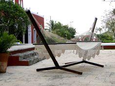 Base de madera para hamaca de palo | Eco Arquitectura Diseño de interiores, remodelación y construcción en México