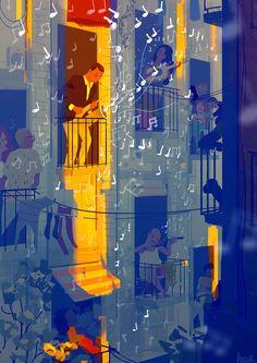 L'illustrazione ai tempi del Coronavirus – Prima parte pascal-campion Pascal Campion, Motion Design, Cgi, Music Institute, Illustrator, Finding Neverland, Melting Crayons, Jazz Music, Artist Names