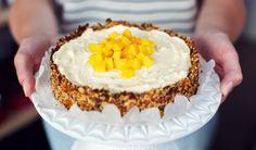 Mango cheesecake, gezoet met (gedroogd) fruit  recept   Dr.Oetker