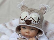 Häkelanleitung für Babymütze Schlafende Eule