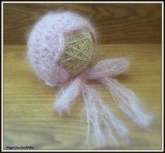 Crochet Vintage Style Baby Bonnet Photo Prop,lace Mohair Hat | eBay