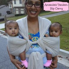 Tandem Babywearing (Two Children Together) — Gentle Parenting Twins Twin Baby Girls, Twin Mom, Twin Babies, Baby Boy, Twin Baby Photos, Newborn Twins, Triplets, Moby Wrap, Baby Wrap Carrier