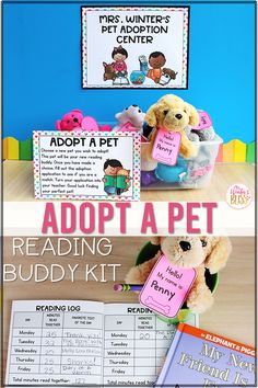 Get students excited about reading at home with this adopt a pet reading buddy kit. Adopting a classroom reading pet builds responsibility and enthusiasm to read more! Students can choose a pet from home or one you offer to adopt! Included in the resource are editable pet adoption signs, directions, adoption applications, pet adoption certificates, daily reading logs and much more! #studnetreadinglogs #adoptapetreadingbuddy #firstgradereading Whole Brain Teaching, Teaching Reading, Home Reading Log, Reading Comprehension Strategies, Decoding Strategies, 2nd Grade Classroom, Kindergarten Classroom, Reading Buddies, Pet Adoption Center