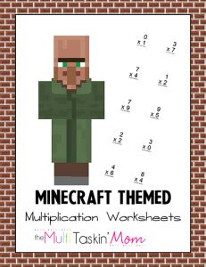 The Minecraft Themed Multiplication Worksheets feature 15 pages of multiplication practice. From single digit multiplication to triple digit multiplication. Math For Kids, Fun Math, Math Activities, Maths, Minecraft Activities, Multiplication Worksheets, 2nd Grade Worksheets, Minecraft Classroom, Minecraft School