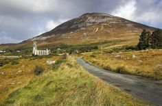 pagewoman: Errigal Mountain, Dunlewy   Church, Poison Glen, Gweedore,County Donegal, Ireland