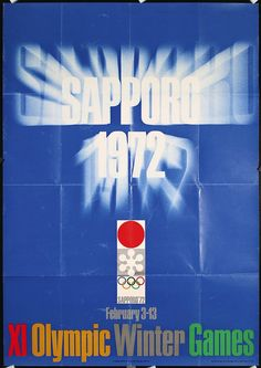 Kamekura, Yusaku 1915 - 1997. Olympic Winter Games - Sapporo. Photo/Offset 1972. Size: 40.9 x 28.7 in. (104 x 73 cm). Printer: Toppan Printing Co..