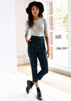 Silence + Noise Logan High-Rise Trouser Pant ($69)  We love both the cut and print of these classic tartan trousers. The ankle length is ultra-modern.