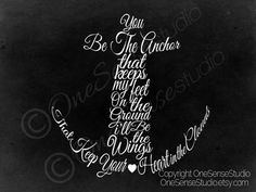 You be the anchor Inspiration quote poster print by OneSenseStudio, $4.95