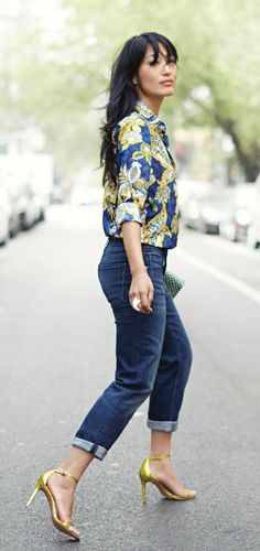 8fc7a4e9be4 Add a vintage inspired print to your everyday denim look for an  effortlessly chic look