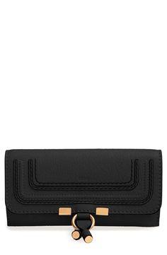 6ebbaec6e7d4 Chloé Marcie - Long Leather Flap Wallet