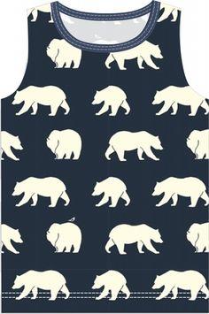 Materialen:  * Tricot - Birch fabrics - Bear Camp  (Stofbreedte: 112 cm) ( Singlet)   50 cm  ( maat 98...