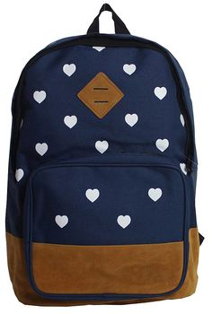 Check out this Wingler Fashion Colorful Cartoon Heart Unisex Canvas Shoulder Bag Handbag School Bag Backpack - (blue) that I found on Ziftit. Polka Dot Backpack, Backpack Purse, Rucksack Backpack, Canvas Backpack, Cute Backpacks, School Backpacks, My Bags, Purses And Bags, Fashion Bags