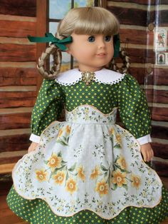 American Girl Mid 1800's Prairie School Dress / by Farmcookies
