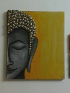Buddhas hand made painting on canvas                                                                                                                                                      More