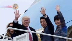 Líderes do Japão e EUA concordam em iniciar diálogo econômico. O primeiro-ministro do Japão, Shinzo Abe, disse que ele e o presidente dos EUA, Donald Trum