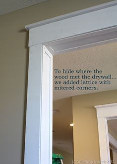 simple window / door trim for the dining/ kitchen doorway...