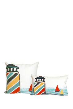 For our balcony chairs Watchtower Indoor/Outdoor Pillow - Multi by Liora Manne on @HauteLook
