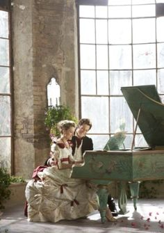 The Secret of Moonacre, the amazing painted piano. fete et fleur: August 2011