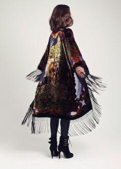 Gypsy Velvet Fringe Kimono Jacket - The Gypsy Love