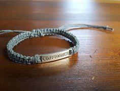 Confidence Grey Adjustable Hemp Bracelet by JackZenHempWorks