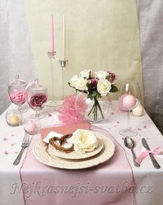 Svatební výzdoba Organza 40 hostů > Výzdoba svatební tabule pro 40 hostů, starorůžová - Table Settings, Table Decorations, Wedding, Home Decor, Valentines Day Weddings, Decoration Home, Room Decor, Place Settings, Weddings