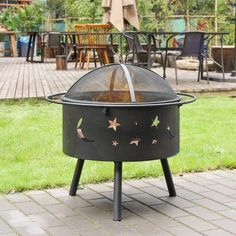Outdoor Wood Burning Fireplace, Wood Burning Fire Pit, Fire Pit Backyard, Backyard Patio, Fire Pit Sets, Manufactured Stone, Wood Steel, Wooden Decks, Recipes