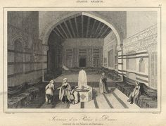 Syria, Damascus, Interior of a Palace, Middle East, antique prints Engraving Printing, This Is Us Quotes, Antique Prints, Damascus, Syria, Old Houses, Middle East, Old Photos, Palace