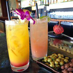 The #Waiolu Guava Mojito and Island Sunset, accompanied by Wasabi Peas and Almonds. #TrumpWaikiki #Cocktails #Mojito #Wasabi #Cheers #Vacation #Travel  Trump International Hotel Waikiki Beach Walk - Google+