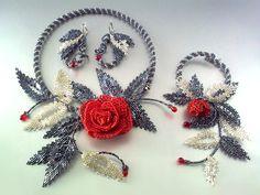Beaded flowers' jewelry by Victoriya Katamashvili Beaded flowers' jewelry by Victoriya Katamashvili Gemstone Jewelry, Beaded Jewelry, Beaded Necklace, Handcrafted Jewelry, Unique Jewelry, Custom Jewelry Design, Flower Necklace, Beaded Flowers, Bead Art