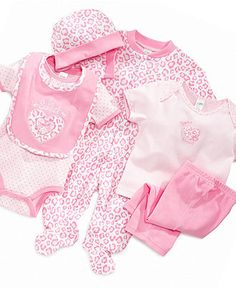 Cutie Pie Baby Set, Baby Girls 6 Piece Hanging Set - Kids Baby Girl (0-24 months) - Macy's. so much stuff for only $21.99